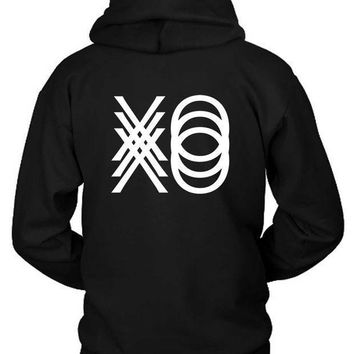 The Weeknd Xo Triple Hoodie Two Sided