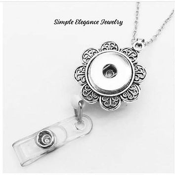 Necklace Retractable Snap Badge Holder 18mm -20mm