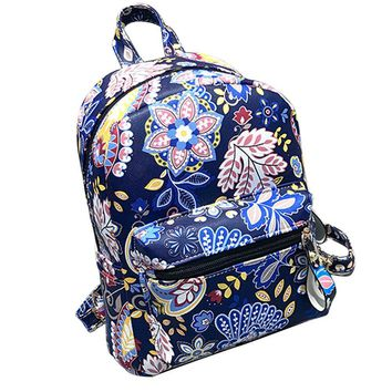 Fashion Backpack Women lovely Flower Leather Backpacks School Bags For Teenagers  unique style Mochila Feminina sac a dos