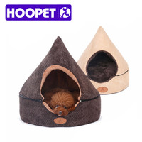 HOOPET Pet Dog Cat Tent House All Seasons Dirt-resistant Soft Yurt Bed with Double Sided Washable Cushion