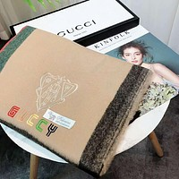 GUCCI GUCCY Autumn And Winter New Fashion Embroidery Colorful Letter Warm Tassel Scarf Women