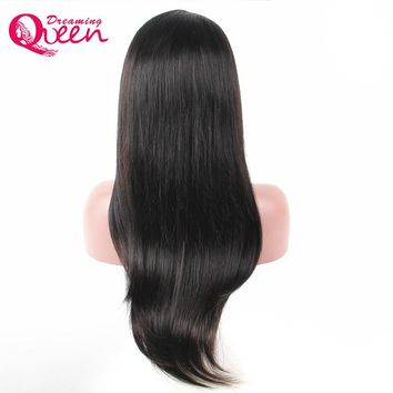Straight Hair Lace Front Human Hair Wig for Black Woman Brazilian Wig Natural Hairline With Baby Hair Dreaming Queen Hair