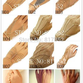Bracelet Chains Jewelry Finger Chains Jewelry 12 Styles 2 Colors