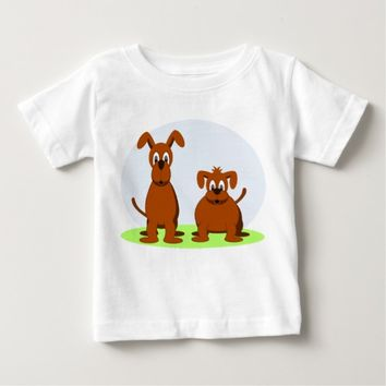 Cute Brown Dogs Baby T-Shirt