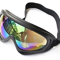 CS Windproof UV400 Snowmobile Bicycle Bike Motorcycle Ski Goggle Protective Glasses (Multicolor)