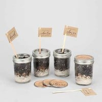 Makerskit DIY Mason Jar Herb Garden Kit- Brown One