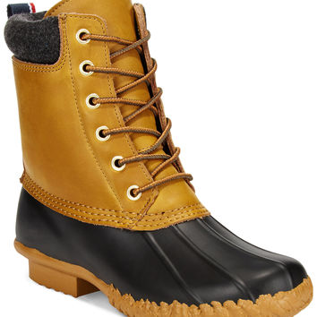 Tommy Hilfiger Women's Russel Faux-Fur Duck Booties
