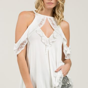 All About the Frill Top - Ivory