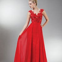 Long Elegant Sleeveless Dress Sheer Back Long Length Formal Gown Design Classic