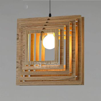 Japanese Wood E27 LED Restaurant Light Pendant Ceiling Lamp Droplight Chandelier Bedroom Reading Room Loft Cafe Bar Decor Gift