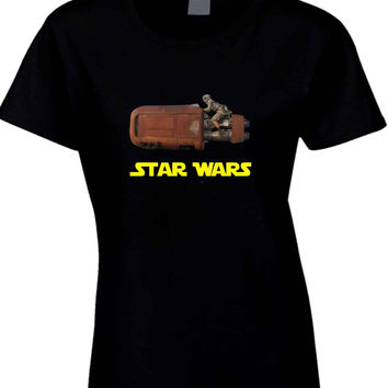 Star Wars The Force Awakens Traditional Transportation  Womens T Shirt