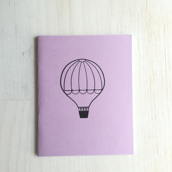 Medium Notebook: Hot Air Balloon, Notebook, Balloon, Purple, Party, Gratitude Journal, Stocking Stuffer, Favor, Journal, Unique, Gift, U806