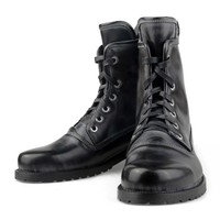 ZLYC Men Fashion Vintage European Style Lace Up Leather Mid Calf Combat Boots