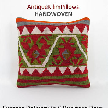 kilim pillow cover cushions oriental pillow case throw pillow urban kilim pillow kilim rug decorative pillow case ethnic pillow cover 000819