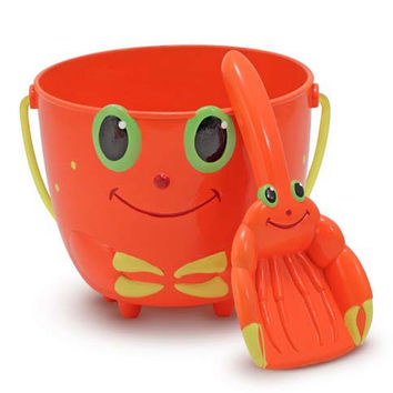 Melissa & Doug Clicker Crab Pail and Shovel Sand Toys