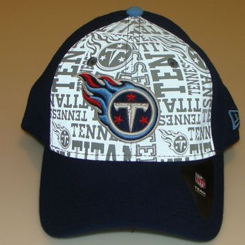 New Era Hat Cap NFL Football Tennessee Titans 39thirty M/L 2014 Draft Flex Fit
