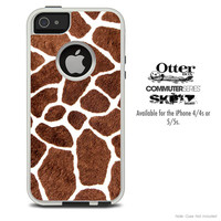 The Real Giraffe Animal Print Skin For The iPhone 4-4s or 5-5s Otterbox Commuter Case