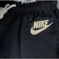 "Women""NIKE"" Fashion Print Sport Stretch Pants Trousers Sweatpants"