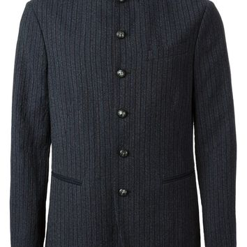 John Varvatos military style striped jacket
