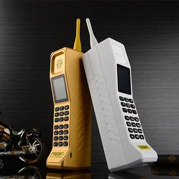 2017 NEW Super Big Mobile Phone M999 KR999 Luxury Retro Telephone Loud Sound Power Bank  Standby Dual SIM Heavy  H-mobile M999