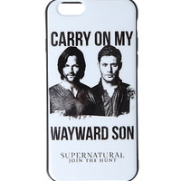 Supernatural Kansas Carry On Wayward Son iPhone 6 Case