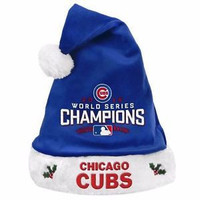 MLB Chicago Cubs 2016 World Series Champions Santa Hat