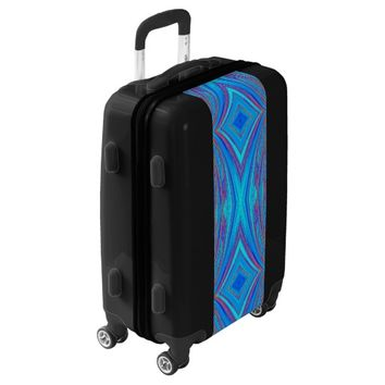 creative abstract pattern luggage