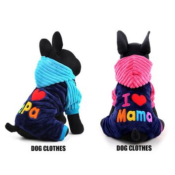 Fashion Winter Coral Velvet Pet Dog Clothes Small Large Dog Coat Jackets for Chihuahua Teddy 2017