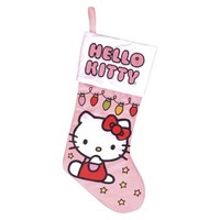 Hello Kitty Christmas Stocking - Stitched Christmas Lights