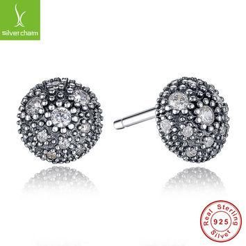 Real 925 Sterling Silver Cosmic Stars Stud Earrings For Women Compatible with Pandora