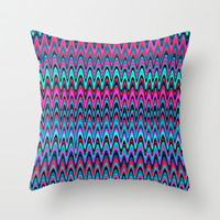 Making Waves Berry Smoothie Throw Pillow by Shawn Terry King