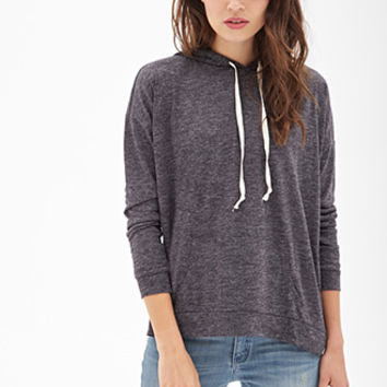 LOVE 21 Heathered Knit Batwing Hoodie