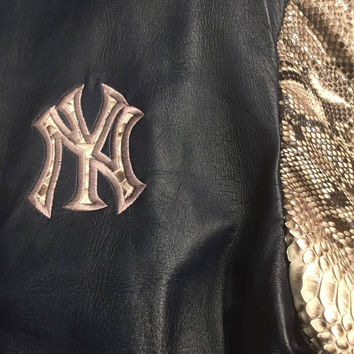 G-Gator New York Yankee Full Python/Lamb Skin Base Ball Jacket
