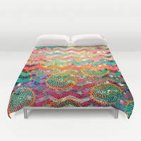 New World Chevron Spring Edition Duvet Cover by Sandra Arduini