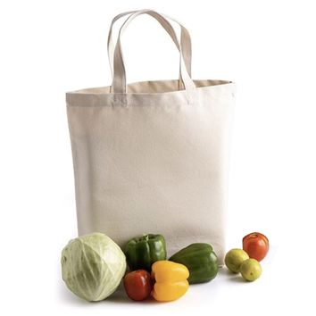 100% Cotton Natural Deluxe Tote Bag with Gusset - TR110