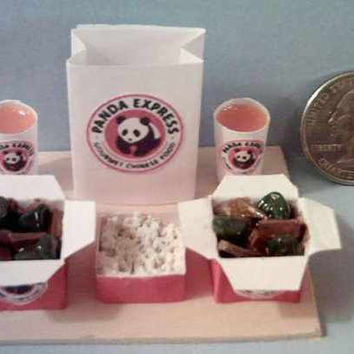 Barbie Sized Panda Express Beef & Broccoli Food Display Board