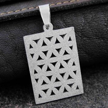 Flower Of Life Dog Tag Pendant