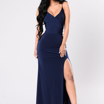 High Street Dress - Navy