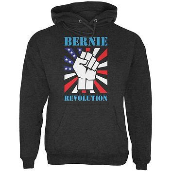 Election 2020 Bernie Sanders Raised Fist Charcoal Heather Adult Hoodie