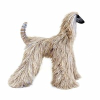 Collectible Brindle Afghan Hound Poseable Miniature Cute Plush Art Doll Needle Felted Dog