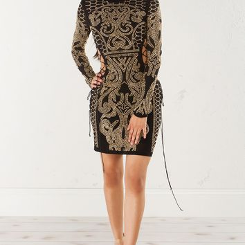 FOOLS GAME LONGSLEEVE BEADED DRESS - What's New