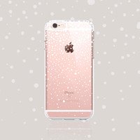Winter iPhone Case iPhone 6s Case Clear iPhone 6s Plus Case Christmas iPhone Cases White iPhone Case iPhone 6 Case Snow iPhone Case Rubber