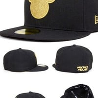 Disney Mickey Mouse Silhouette Fitted