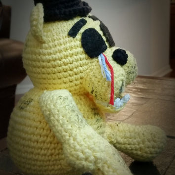 It's Me!  Golden Freddy. As seen on Five Nights at Freddy's-Fan Art-Amigurumi, crochet plush doll