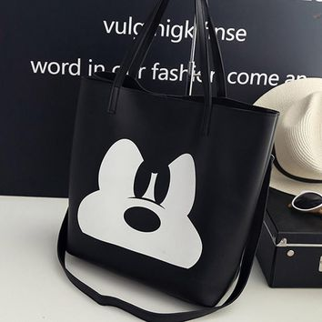 2018 Fashion PU Leather Handbag Women Joker Shoulder Bag Large Capacity Mickey Tote Bag Female Crossbody Bag Feminine Sac a Main
