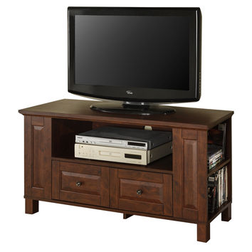 "44"" Brown Wood TV Stand Console"
