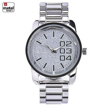 Jewelry Kay style Men's Hip Hop Fashion Stainless Steel Back Heavy Metal Band Watches WM J2613 S