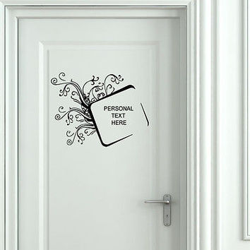 Wall Mural Vinyl Decal Sticker Sign Door Frame Personalized Text Name AL295