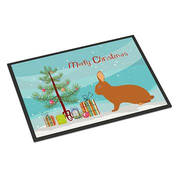 Rex Rabbit Christmas Indoor or Outdoor Mat 24x36 BB9336JMAT