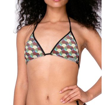 Geometric Abstract AOP Swimsuit Bikini Top All Over Print by TooLoud